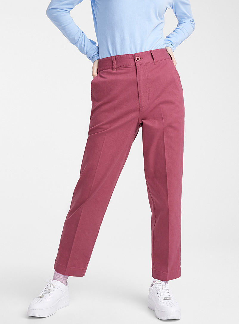Twik Ruby Red Organic cotton straight pant for women