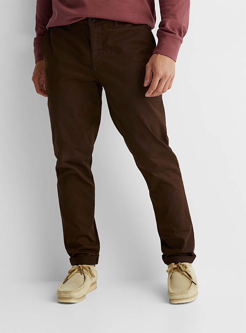 Le 31 Sand Stretch organic cotton chinos Stockholm fit - Slim for men