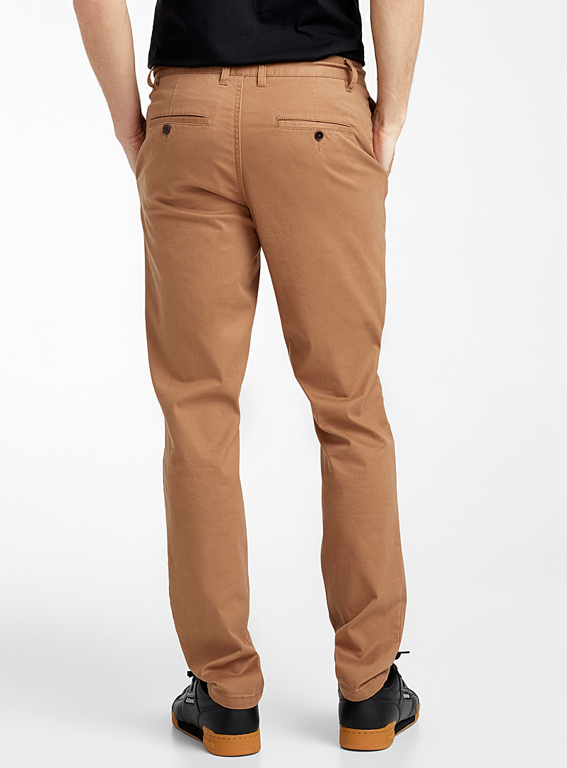 Le 31 Black Stretch organic cotton chinos  Stockholm fit-Slim for men