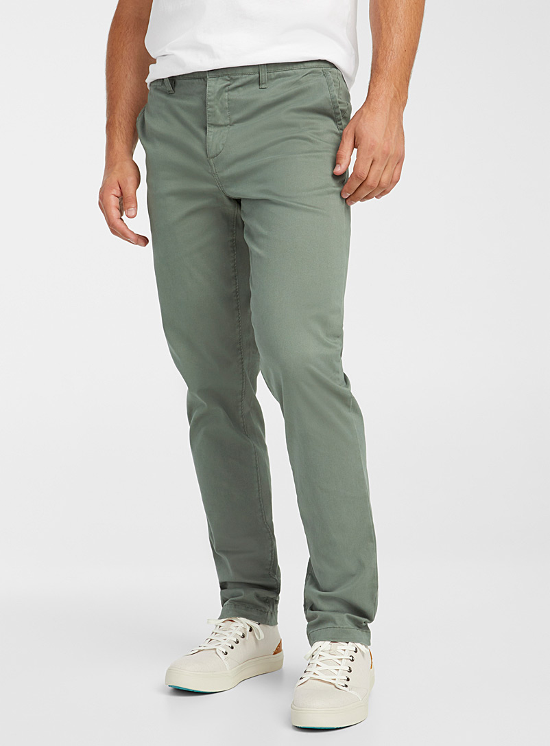 Le 31 Marine Blue Stretch organic cotton chinos  Stockholm fit-Slim for men