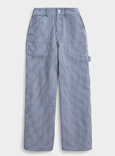 Organic cotton striped worker jean