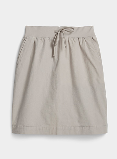 Organic cotton elastic waist skirt