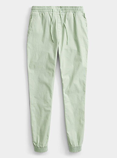 Organic cotton canvas joggers