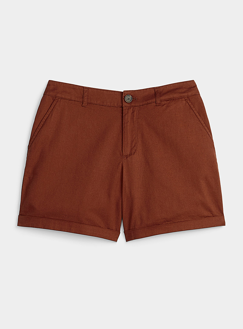 Twik Ruby Red Organic cotton utility short for women