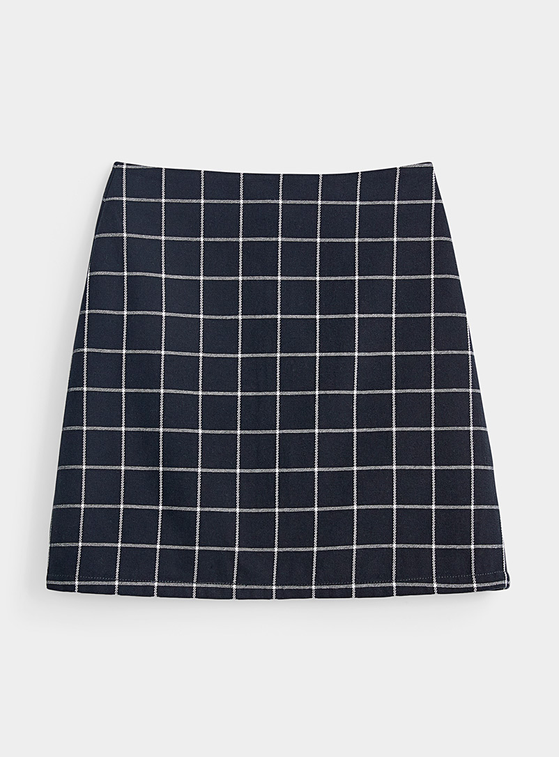 Organic cotton structured twill skirt