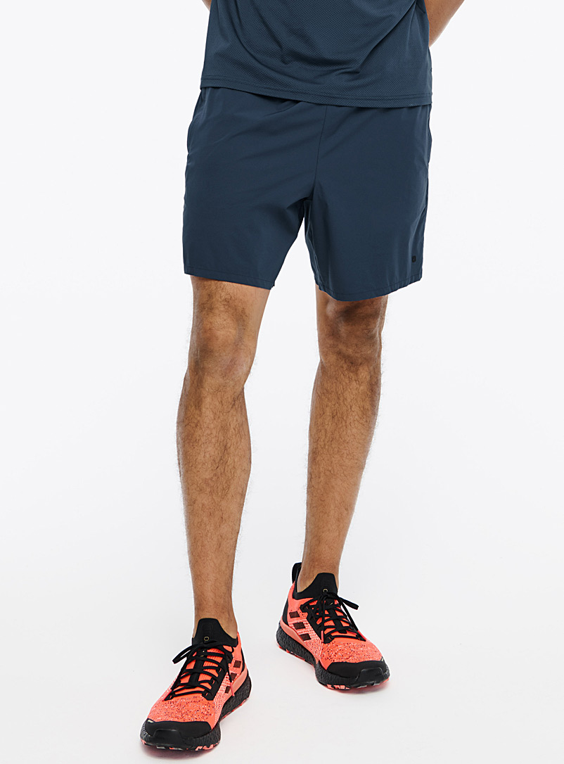 I.FIV5 Dark Blue Monochrome stretch short for men