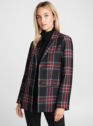 Scottish tartan blazer
