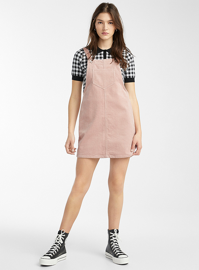 Organic cotton corduroy apron dress