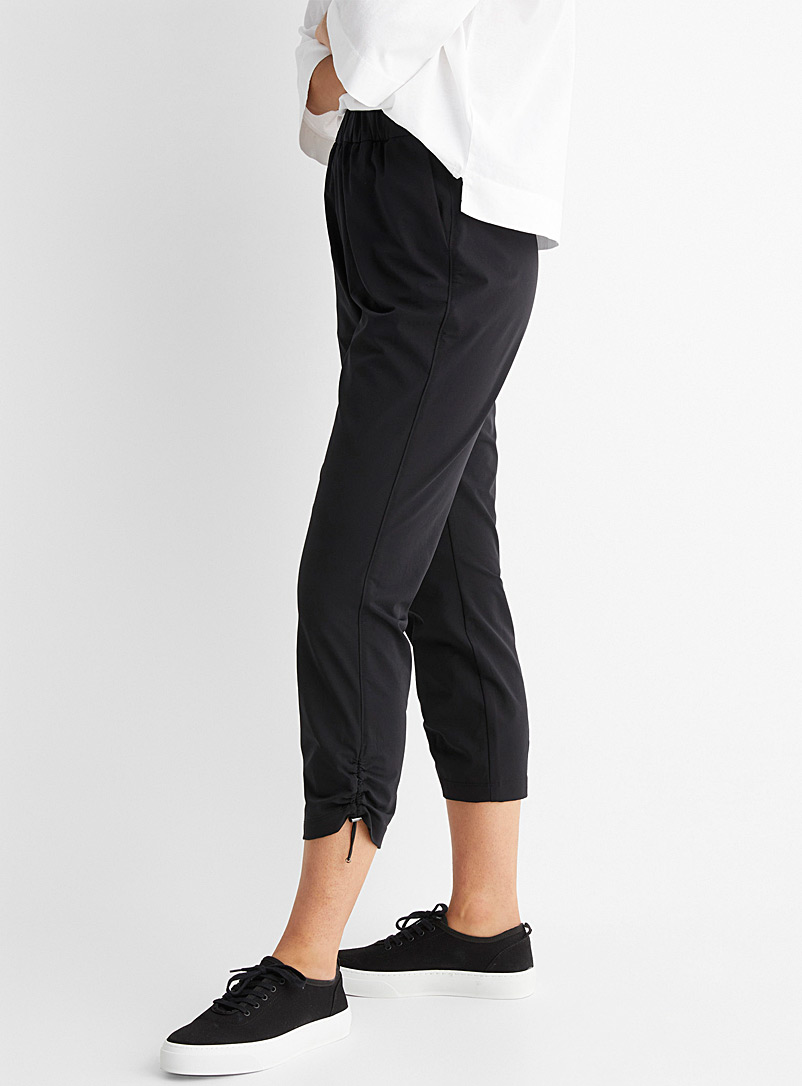 Contemporaine Bottle Green Comfort-waist stretch cropped pant for women