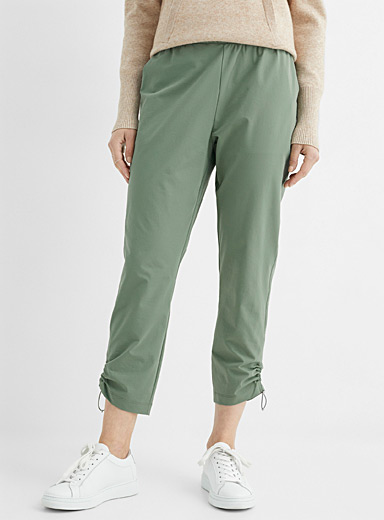 Comfort-waist stretch cropped pant