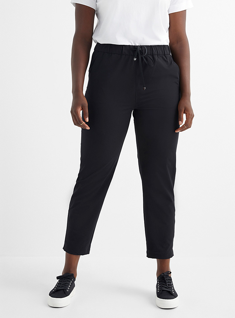 Contemporaine Black Comfort-waist stretch pant for women