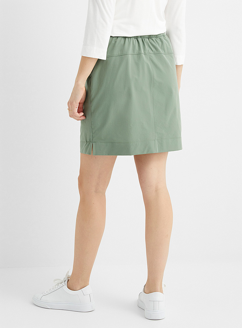 Contemporaine Dark Blue Comfort-waist stretch skort for women
