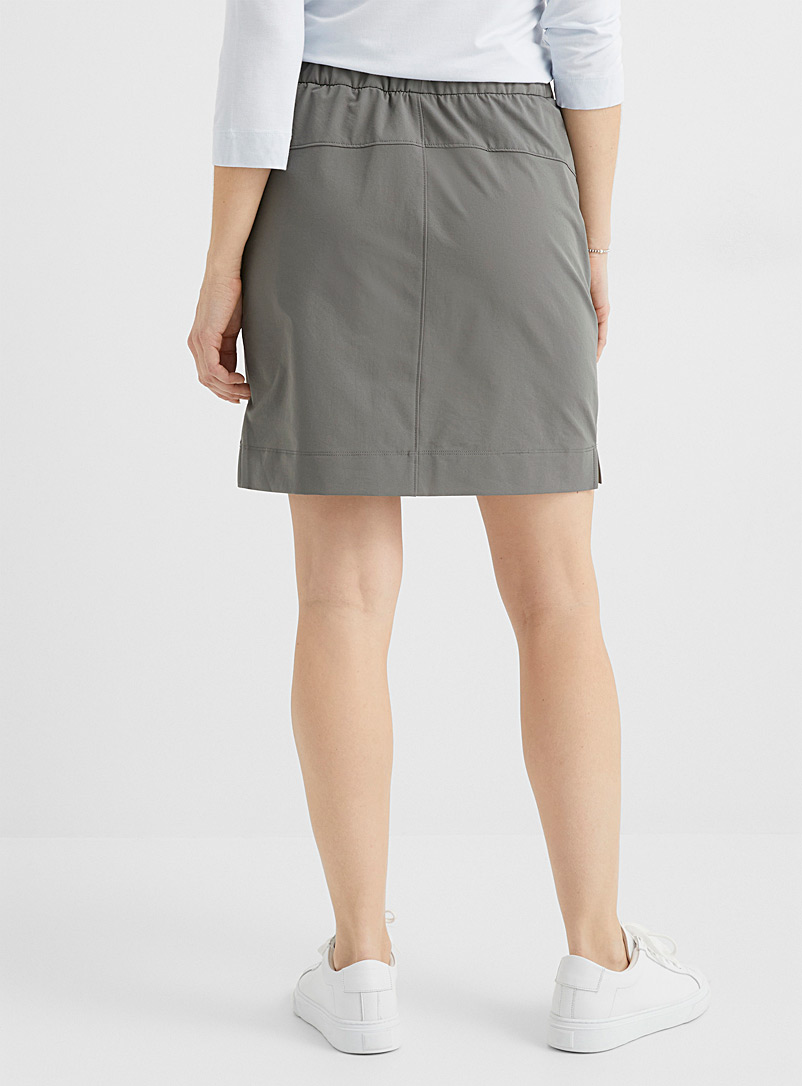 Contemporaine Dark Grey Comfort-waist stretch skort for women