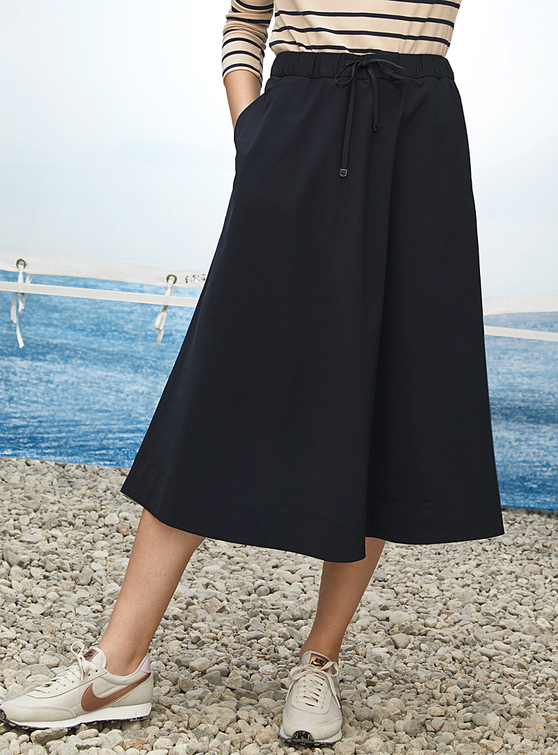Contemporaine Dark Blue Comfort-waist stretch skirt for women