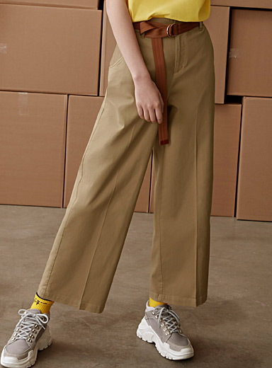 Loose high-rise chinos