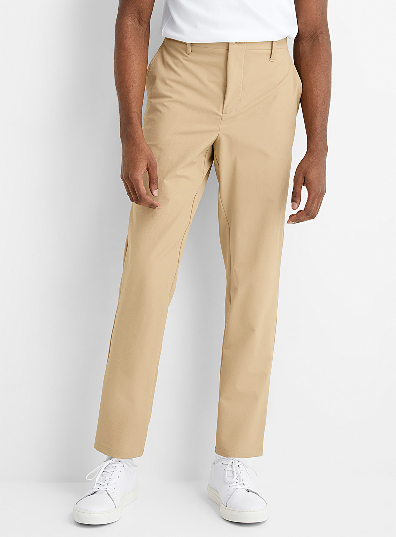 Le 31 Fawn Stretch nylon Innovation pant Straight, slim fit for men