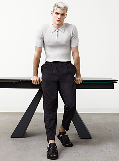 Belted tapered pant