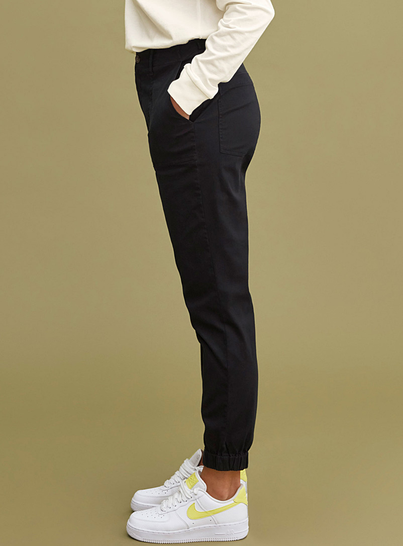 Workwear chino joggers - Joggers - Black