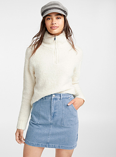 Denim workwear skirt