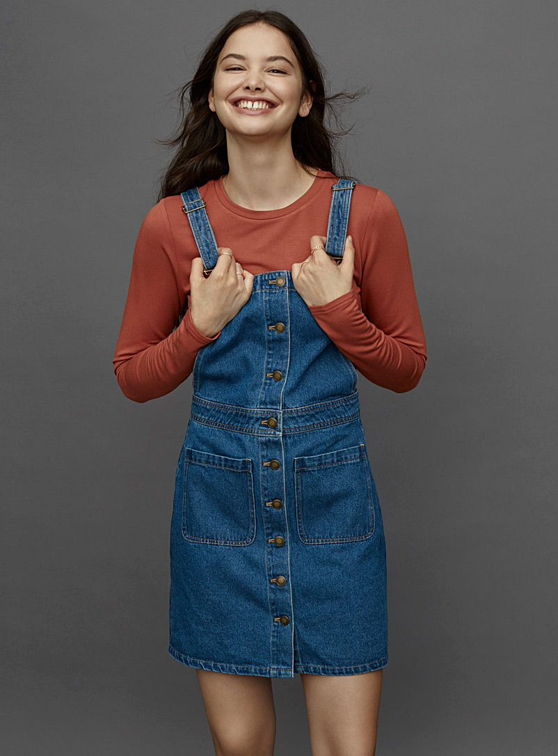 buttoned-blue-denim-apron-dress