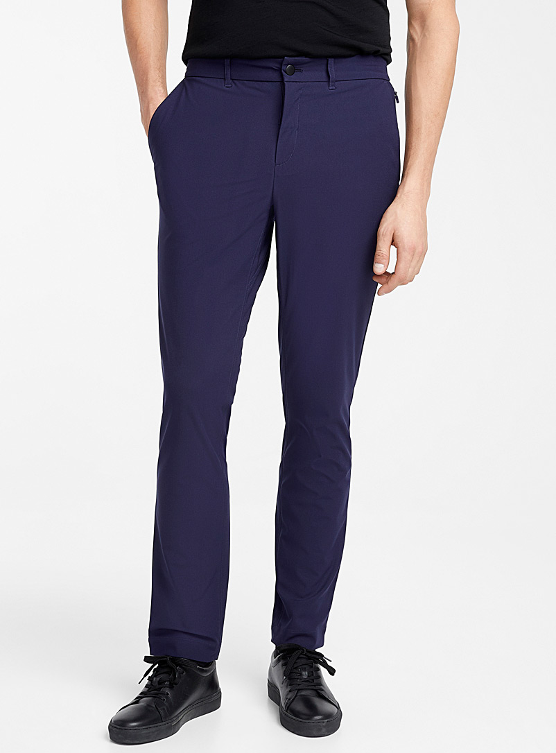 Traveller techno pant  Stockholm fit-Slim - Tailored - Marine Blue