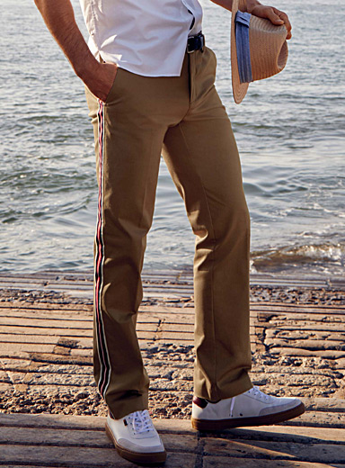 Officer stripe chinos <br>Slim fit