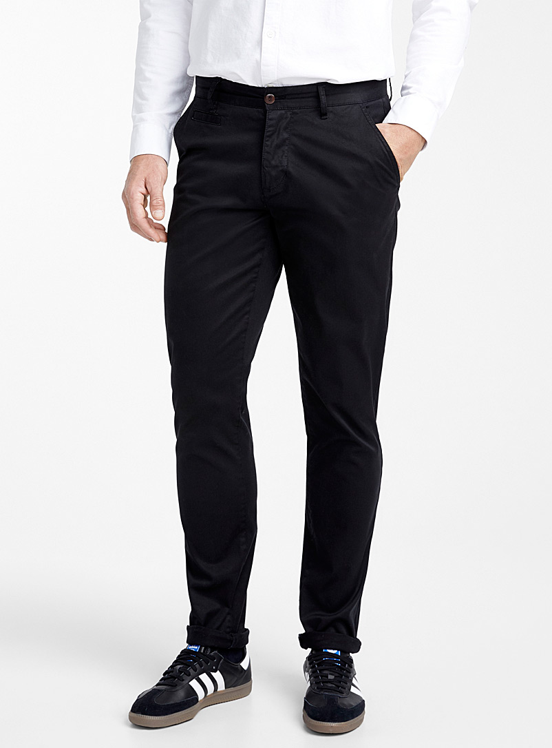Essential stretch chinos  Stockholm fit - Slim - Slim fit - Black