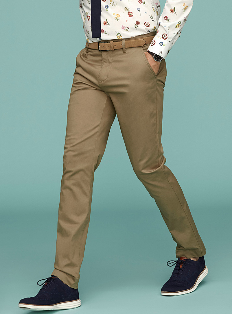 Essential stretch organic cotton chinos  Stockholm fit - Slim - Slim fit - Pearly