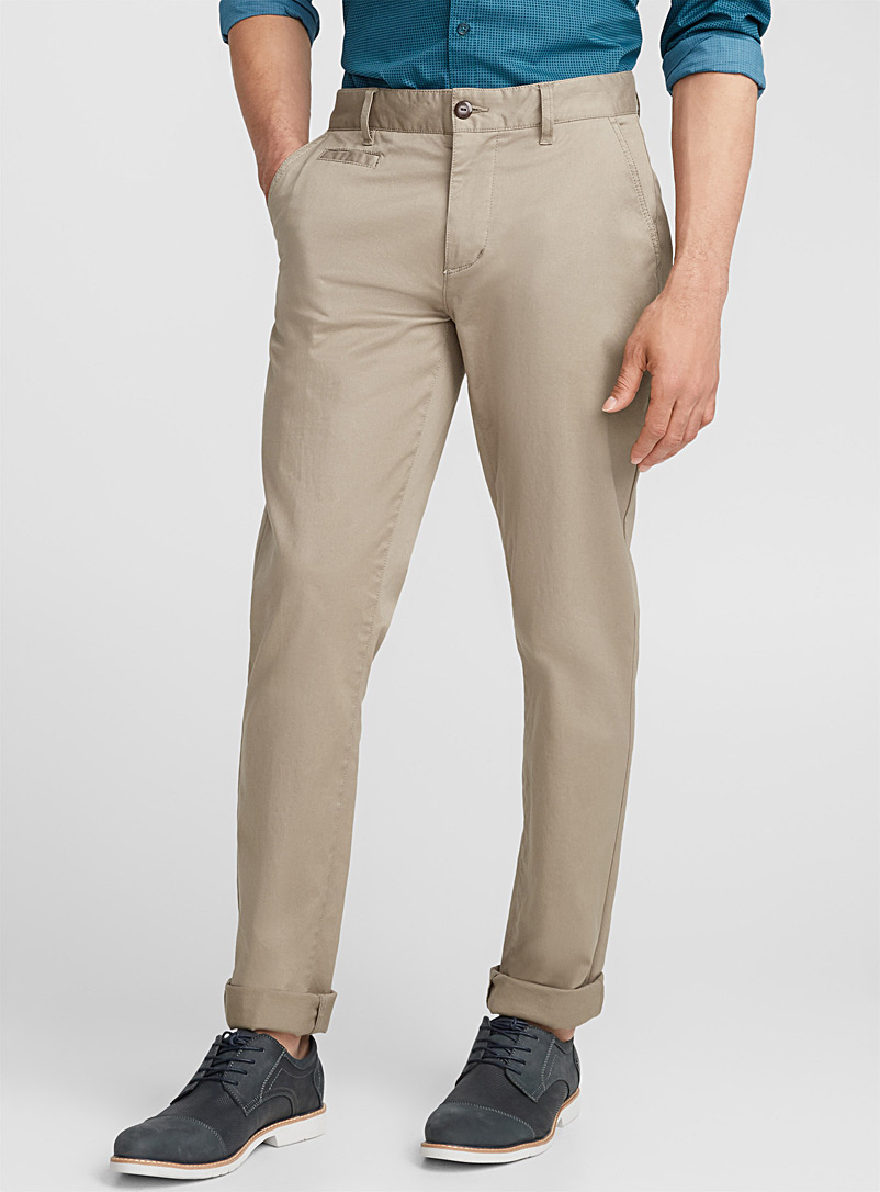 Essential stretch chinos  Stockholm fit - Skinny - Super skinny & Skinny fit - Light Brown