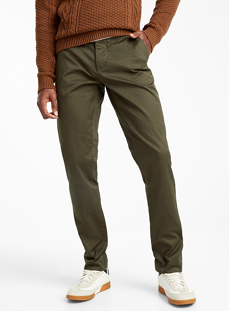 Essential stretch organic cotton chinos  Stockholm fit - Slim - Slim fit - Lime Green