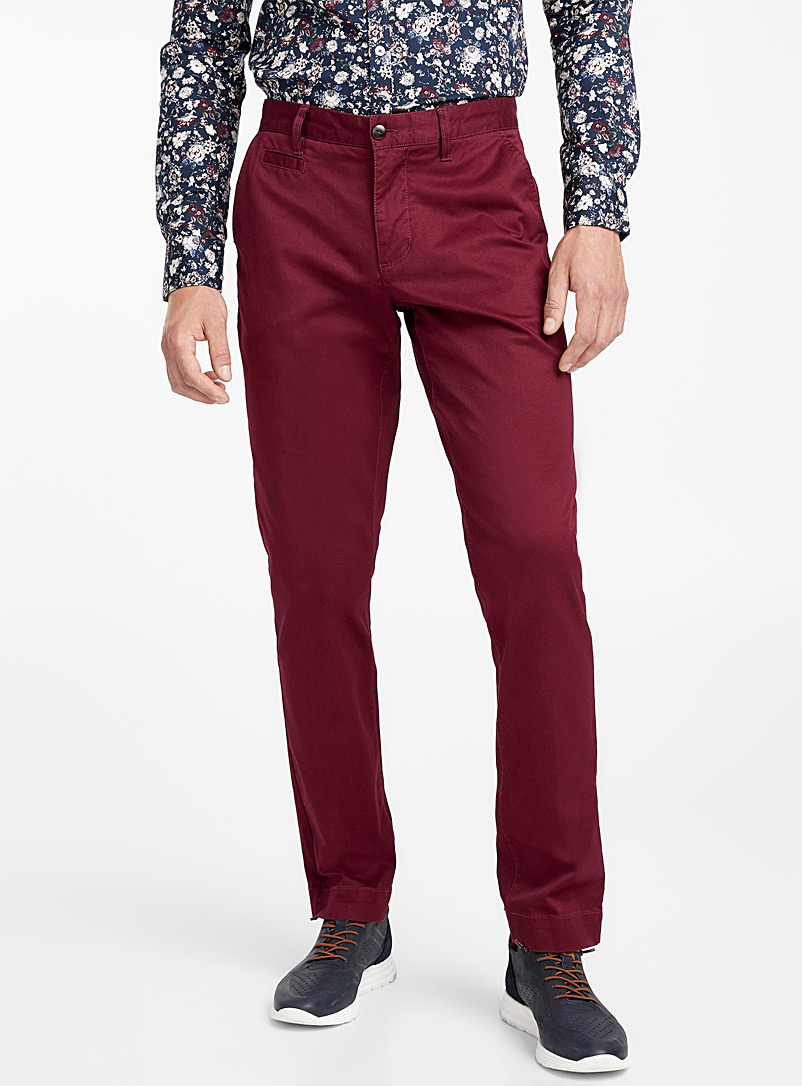 Essential stretch chinos  Stockholm fit - Slim - Slim fit - Patterned Red