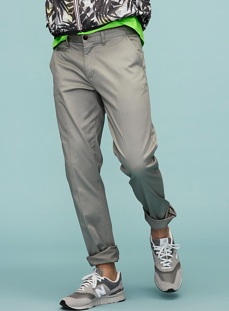 Essential stretch organic cotton chinos  Stockholm fit - Slim - Slim fit - Silver