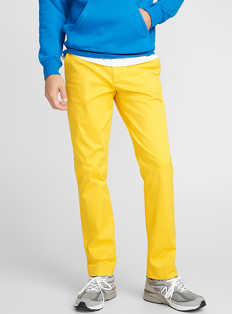 Essential stretch chinos  Stockholm fit - Slim - Slim fit - Bright Yellow