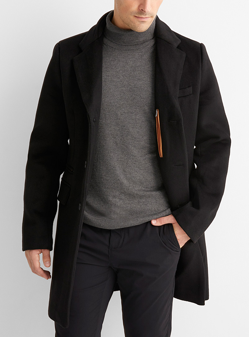 Le 31 Copper Felt double-collar peacoat for men