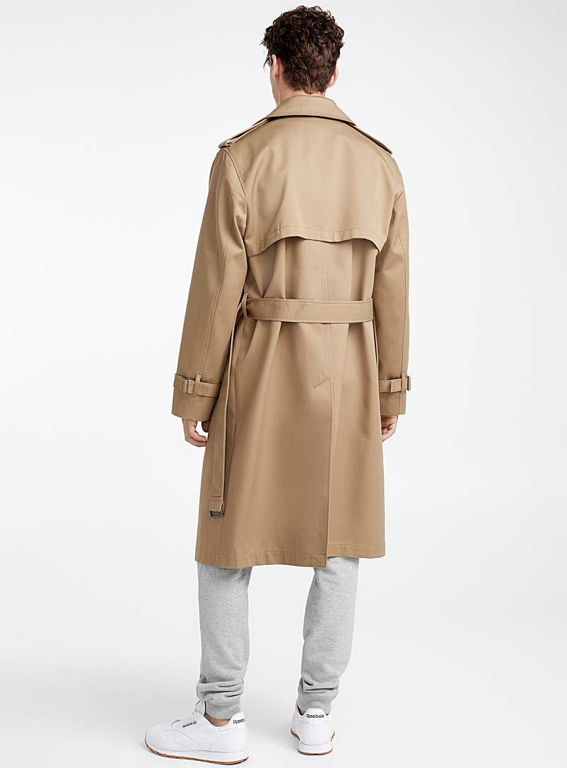 Le 31: L'authentique trench Tan beige fauve pour homme