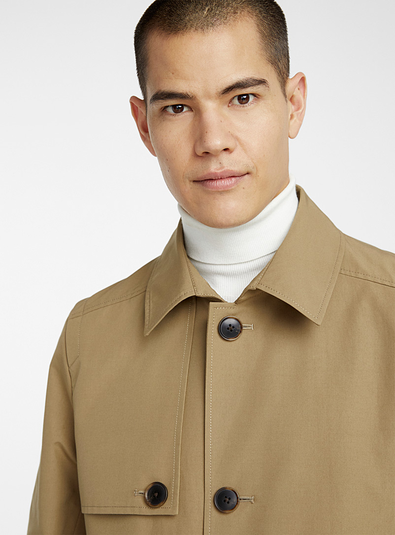Le 31 Fawn Urban water-repellent trench coat for men