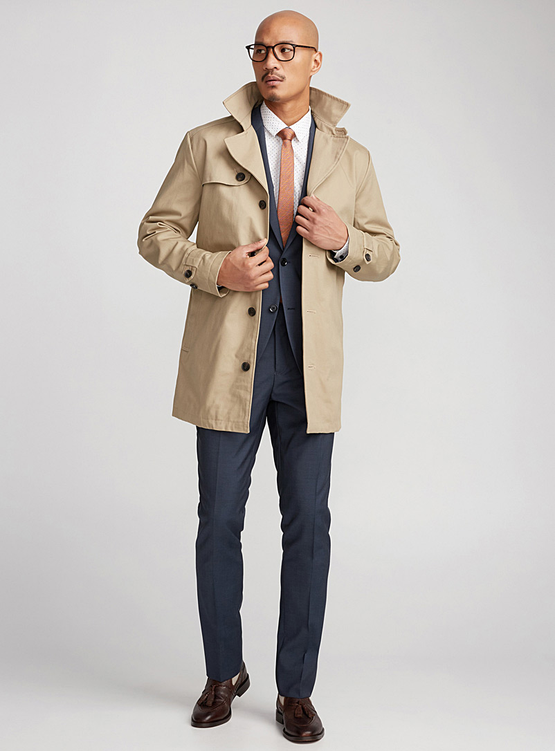 Authentic cotton twill trench - Overcoats - Fawn
