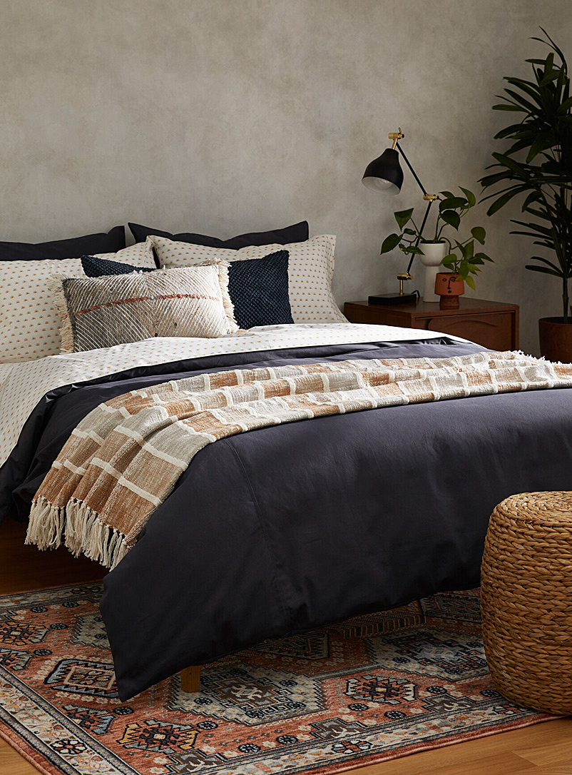 Simons Maison Charcoal Brushed cotton duvet cover set