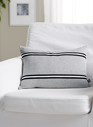 Athletic heathered jersey cushion <br>30 x 45 cm
