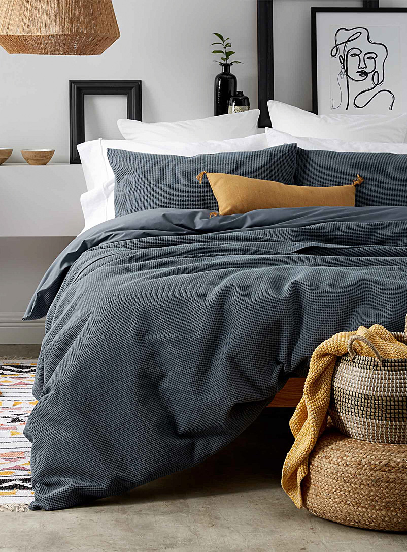 Basketweave duvet cover set