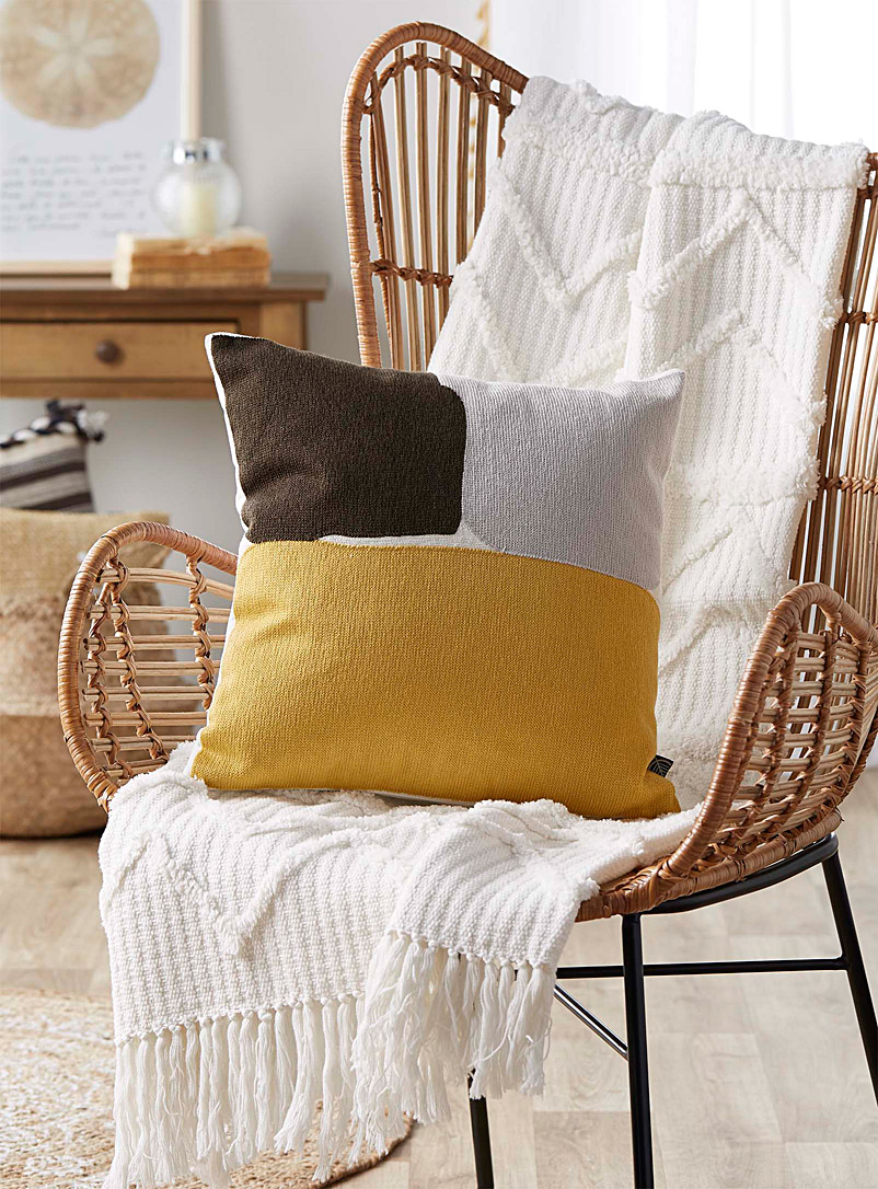 Simons Maison Assorted Ochre accent cushion  45 x 45 cm