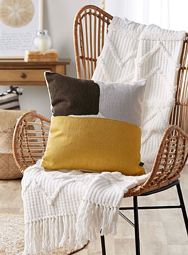 Ochre accent cushion  45 x 45 cm