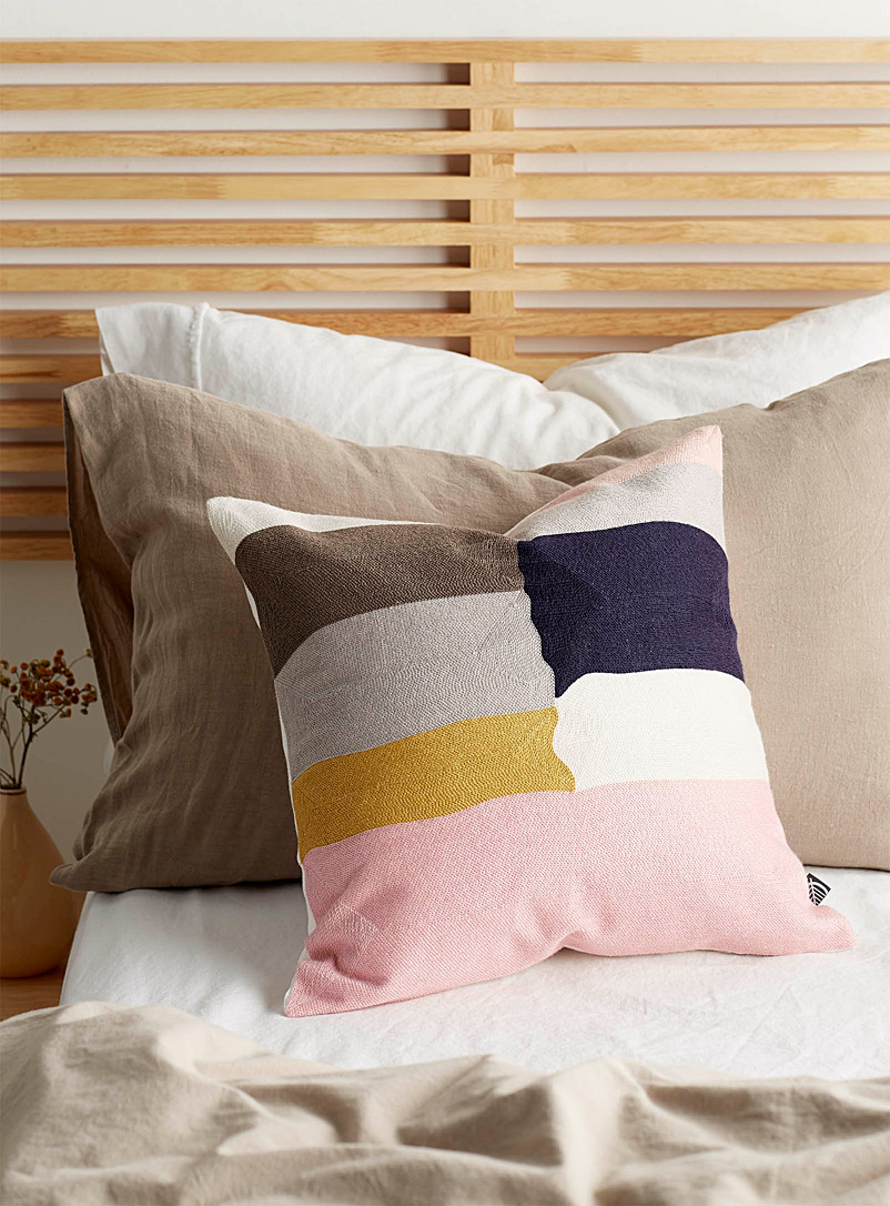 Simons Maison Assorted Embroidered block cushion  45 x 45 cm