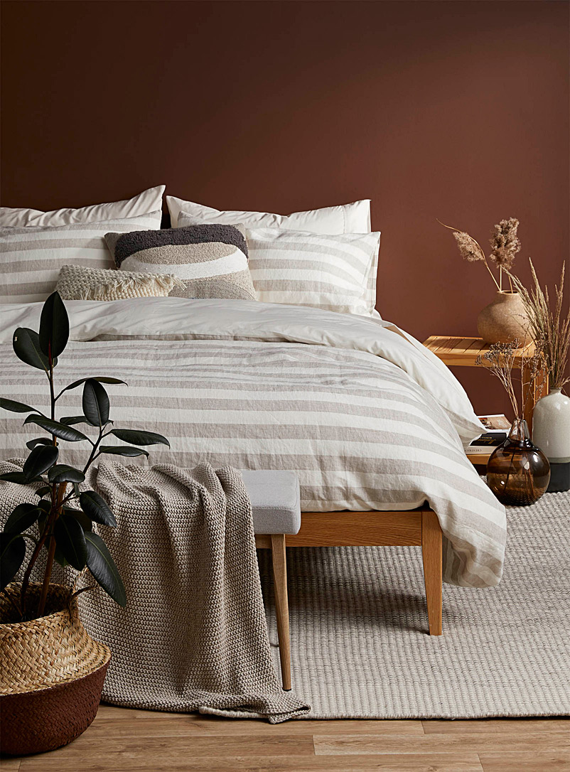 Simons Maison Assorted Pure linen striped duvet cover set