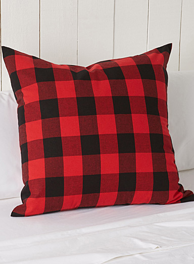 Hunter check Euro pillow sham