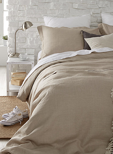 Natural pure linen duvet cover set