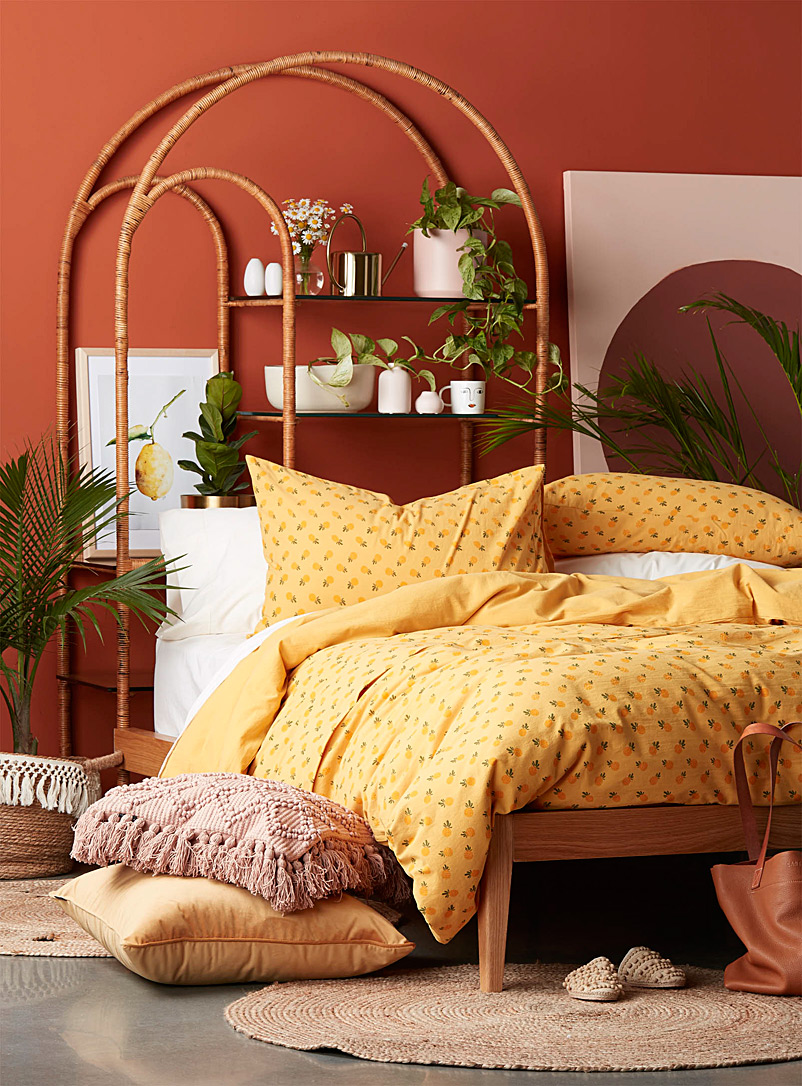 Simons Maison Golden Yellow Funky pineapple duvet cover set