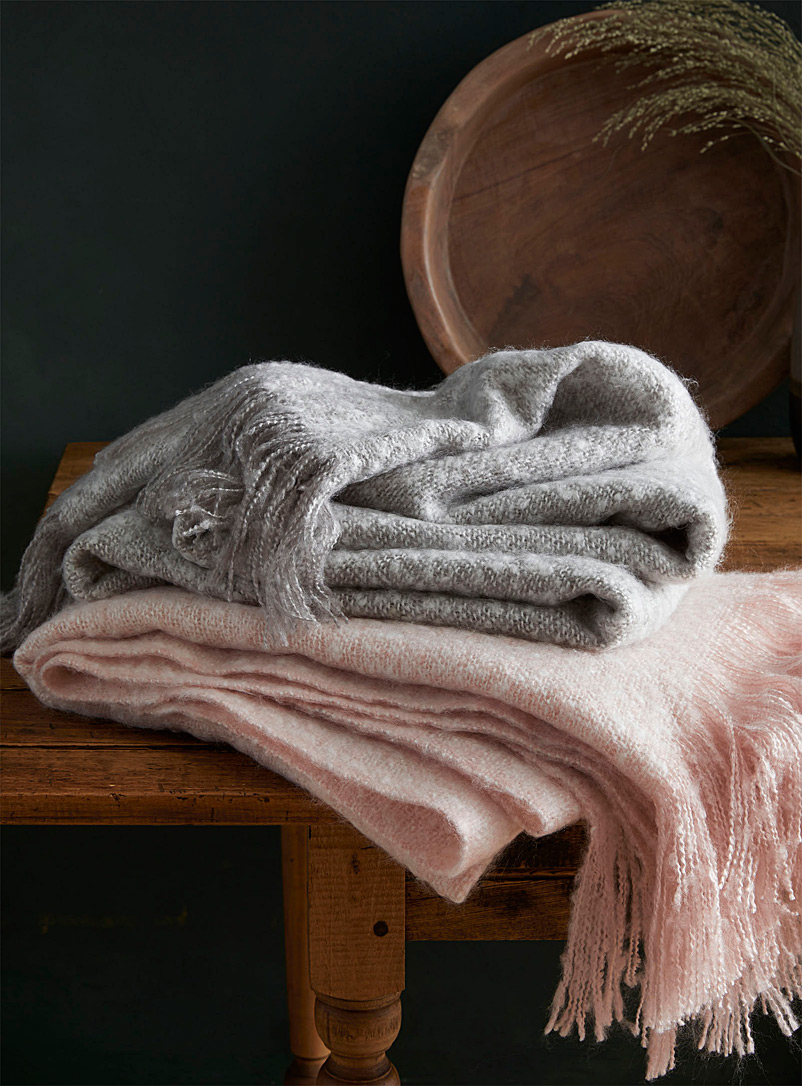 Simons Maison Grey Heathered urban throw  130 x 150 cm