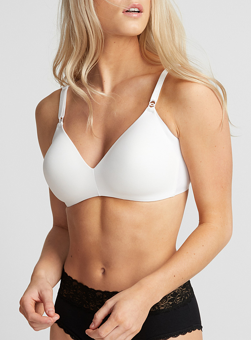 Laser-cut moulded wireless bra - Wireless - White