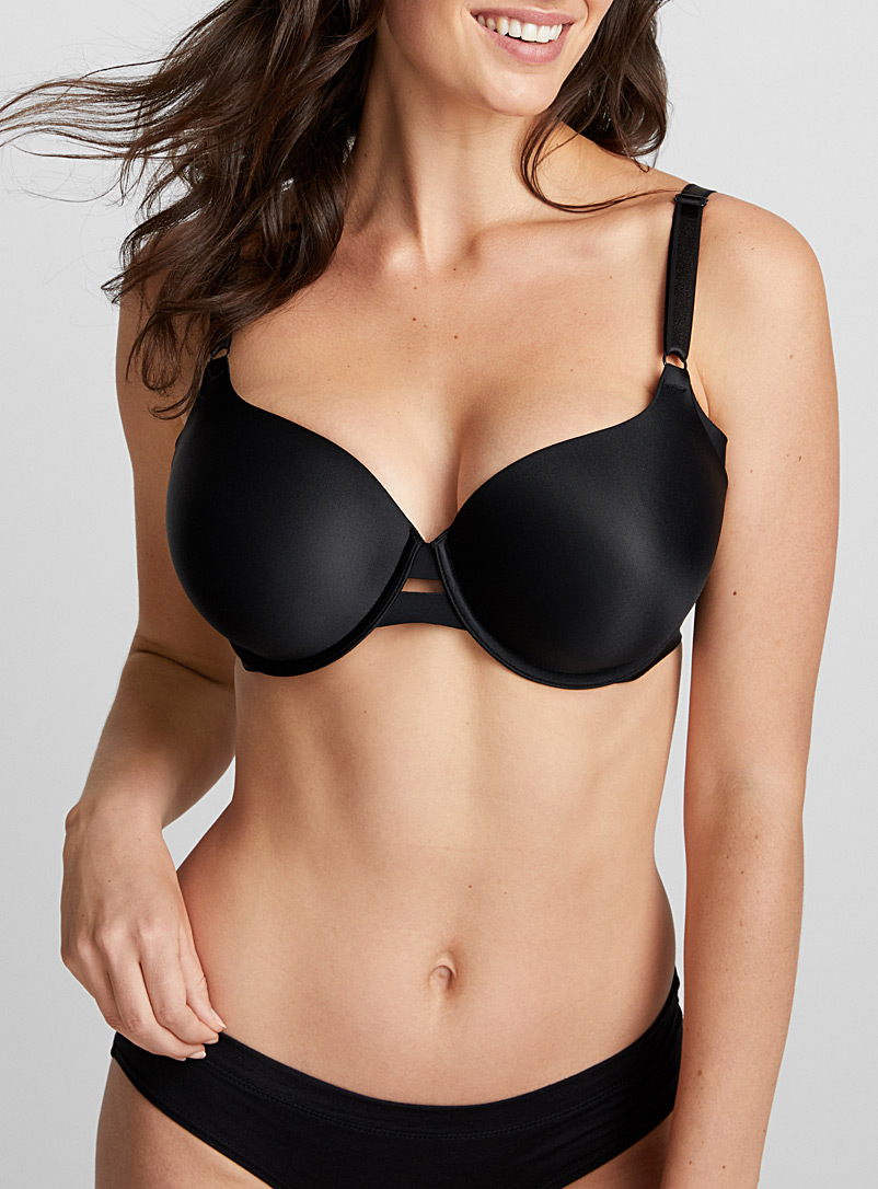Warner's Black All covered full coverage bra for women